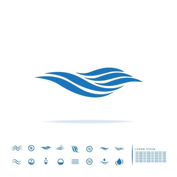 sea wave icon vector art illustration