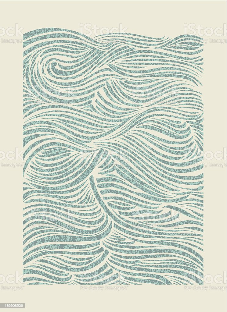 Sea Waves vector art illustration