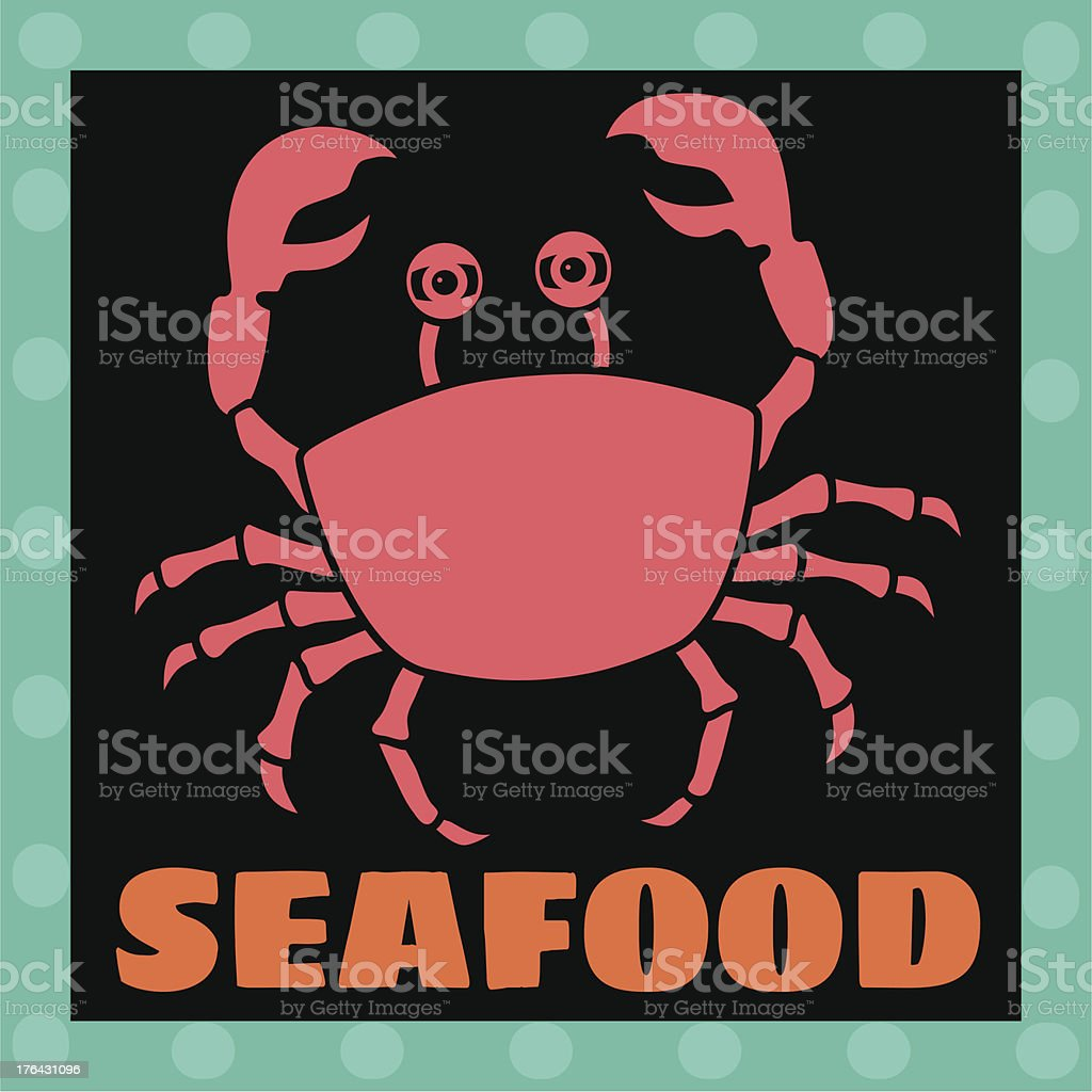 seafood luggage label or travel sticker royalty-free stock vector art