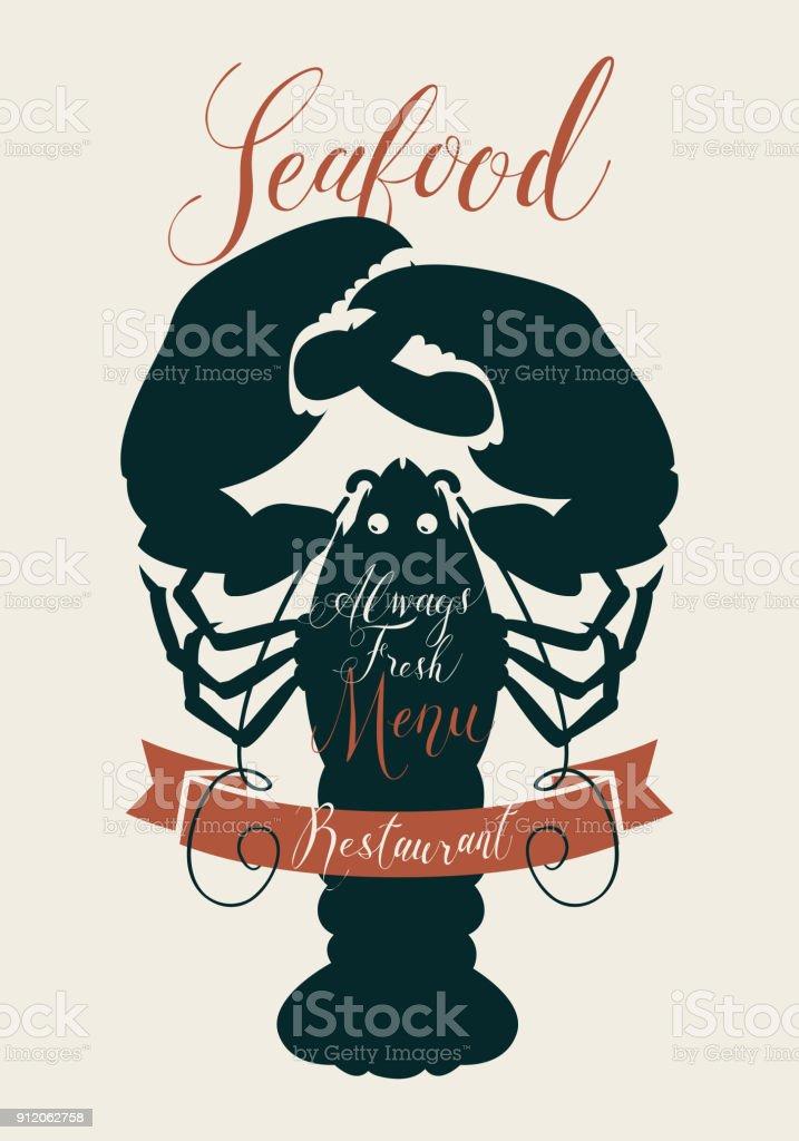 Meeresfrüchtemenü Für Ein Restaurant Oder Ein Geschäft Mit Hummer