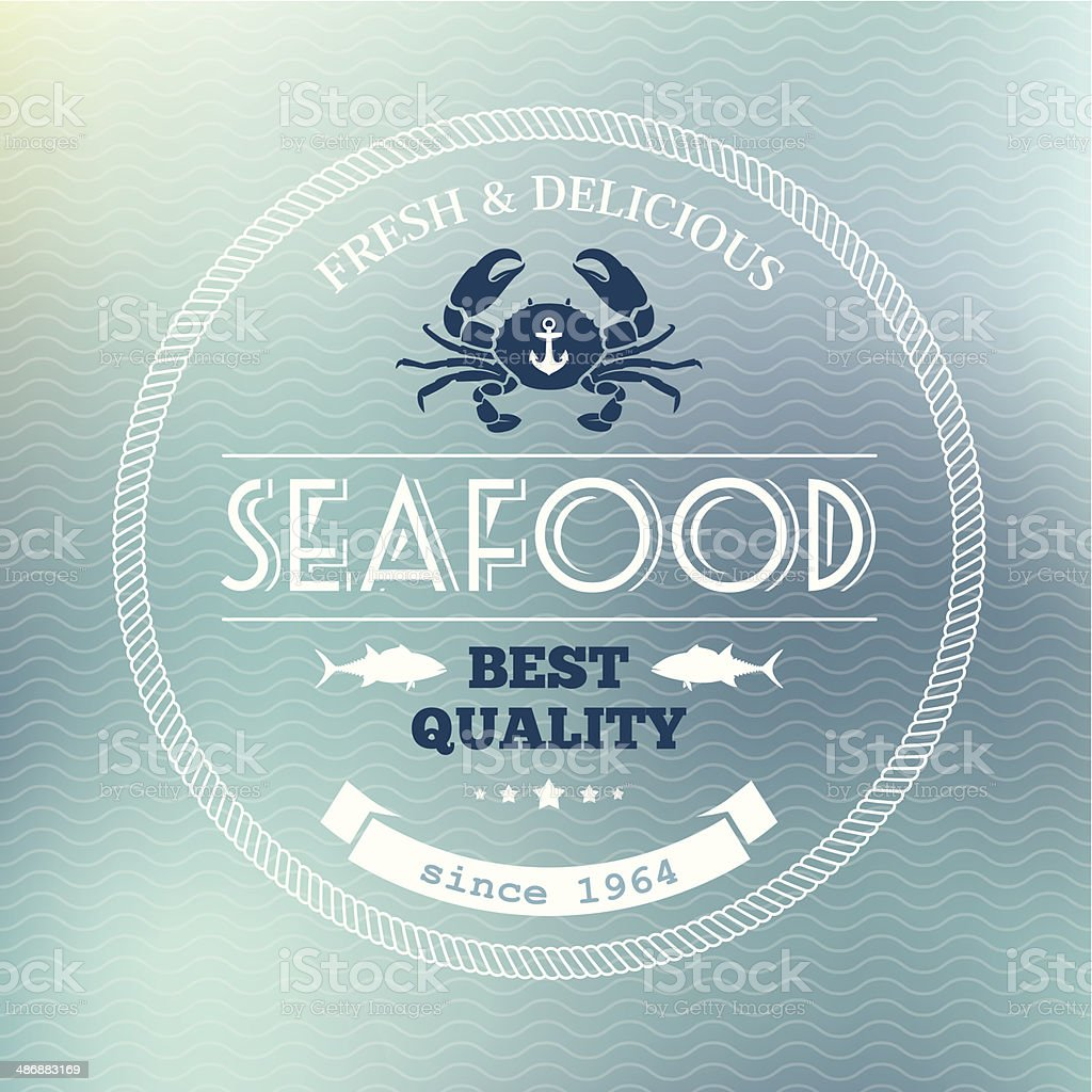 Seafood poster royalty-free stock vector art