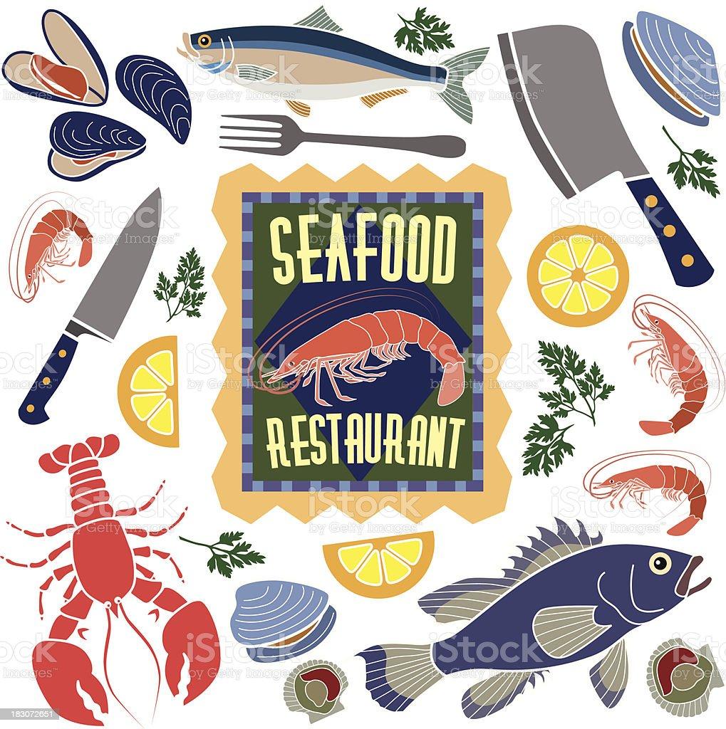 seafood restaurant design elements royalty-free seafood restaurant design elements stock vector art & more images of alaskan king crab