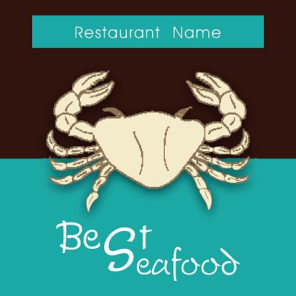 Seafood restaurant menu card design.