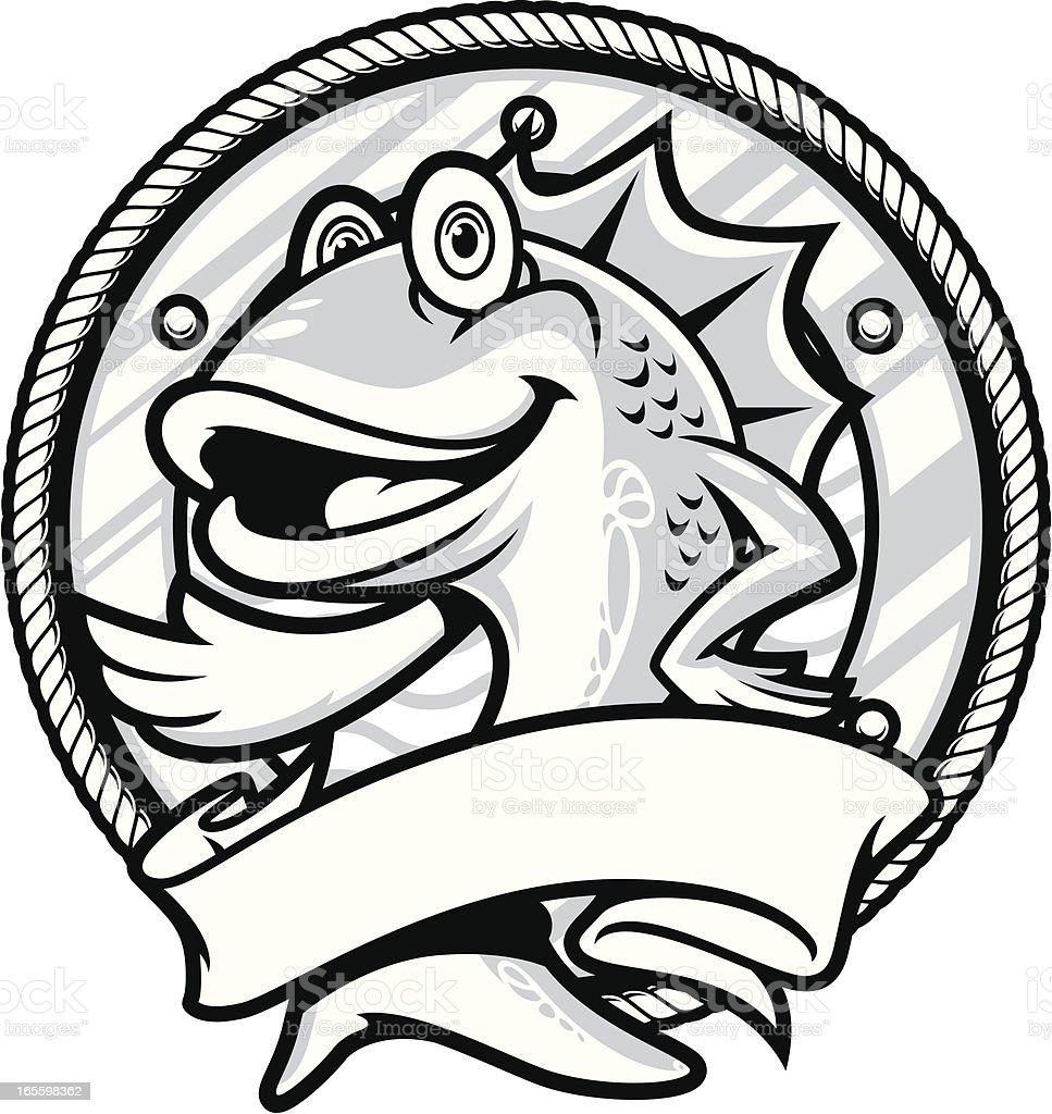 Seafood Series B&W royalty-free stock vector art