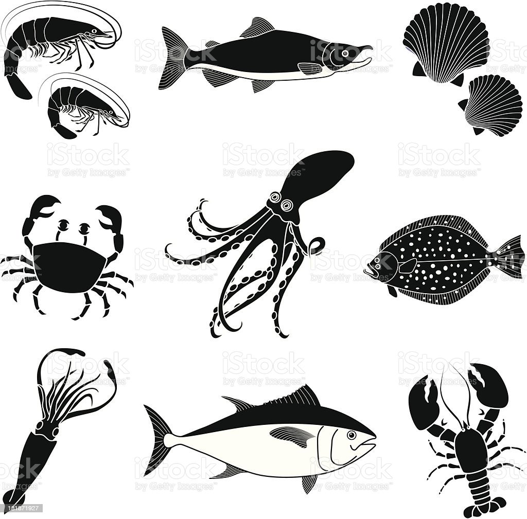 seafood royalty-free stock vector art