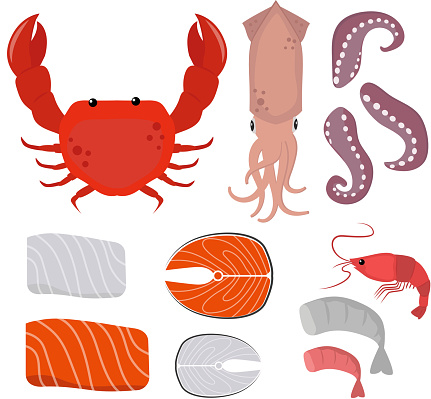 Seafood vector illustration