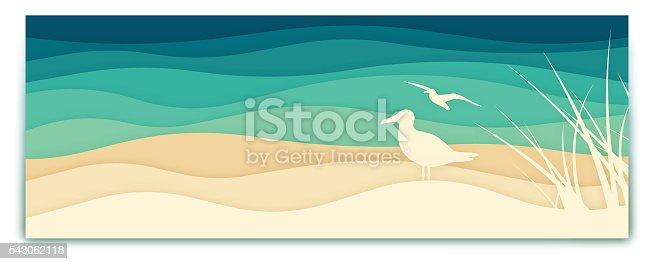 istock Seagull Ocean Banner 543062118