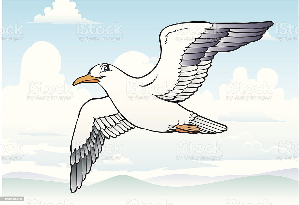 Seagull royalty-free seagull stock vector art & more images of animal