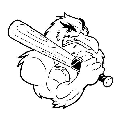 Seagull with a baseball bat 3