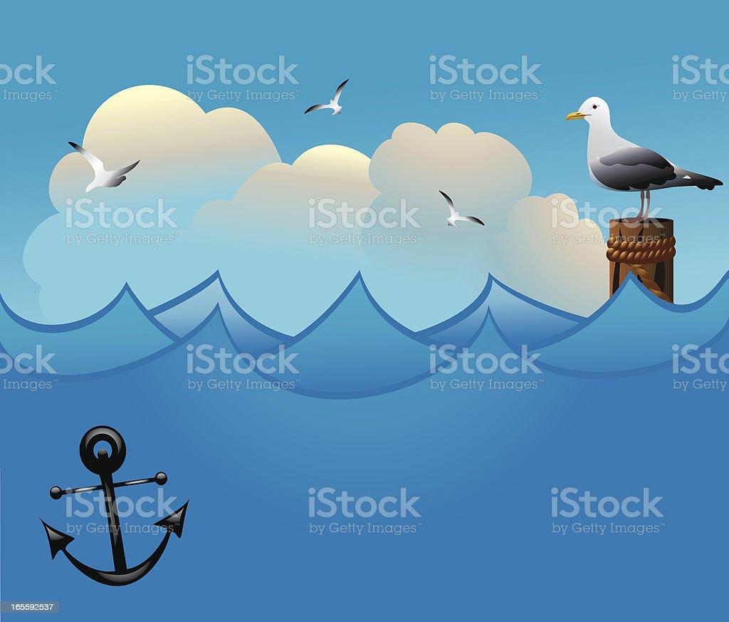 Seagulls royalty-free stock vector art