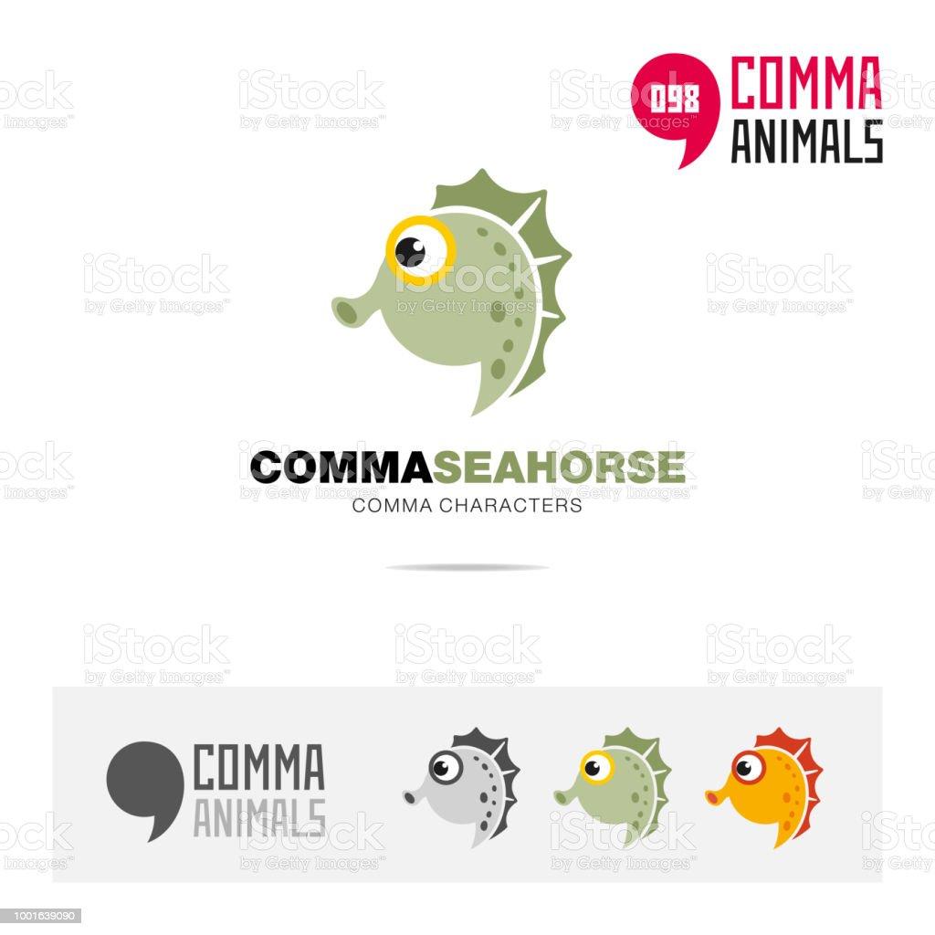 Seepferdchen Tier Konzept Symbol Vorlage Für Moderne Marke Identität ...