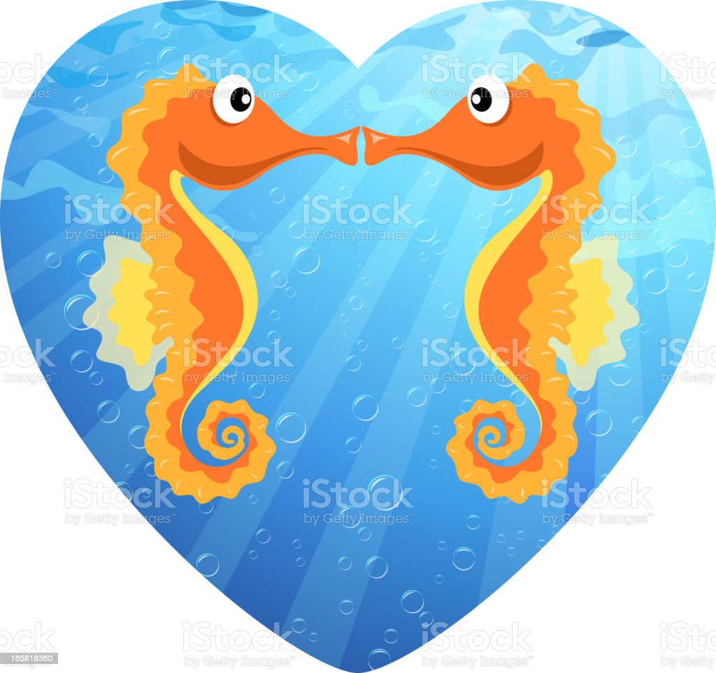 Seahorse Lover royalty-free stock vector art