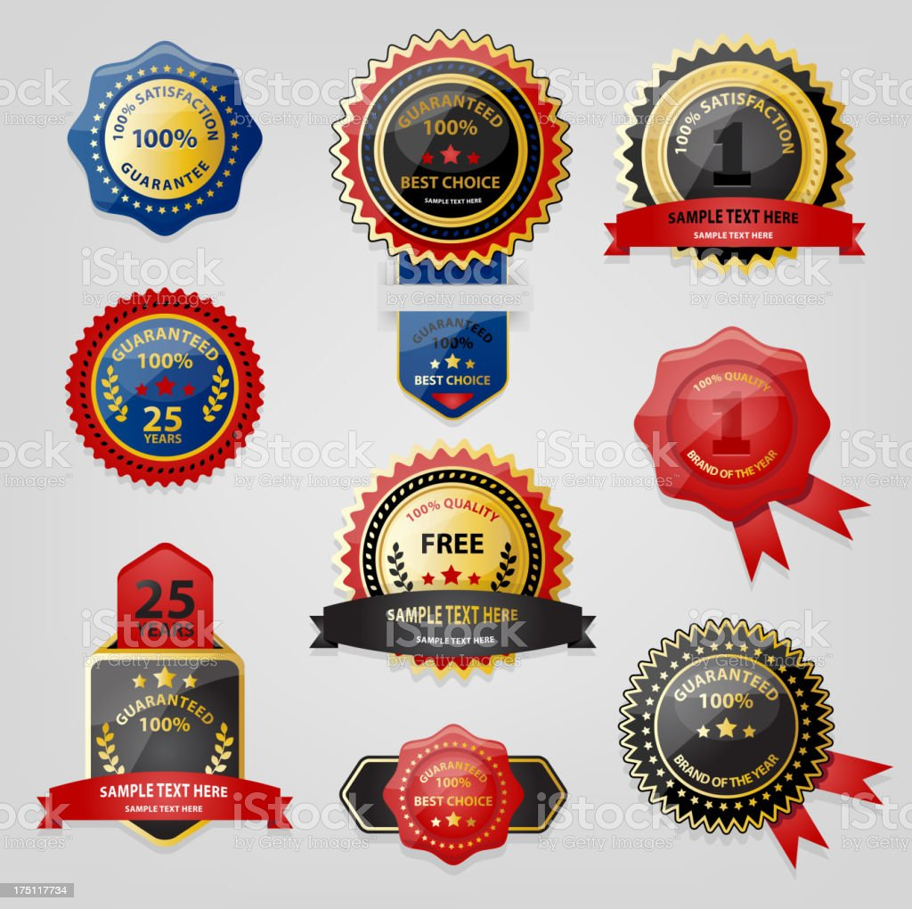 Seal and Award collection royalty-free stock vector art