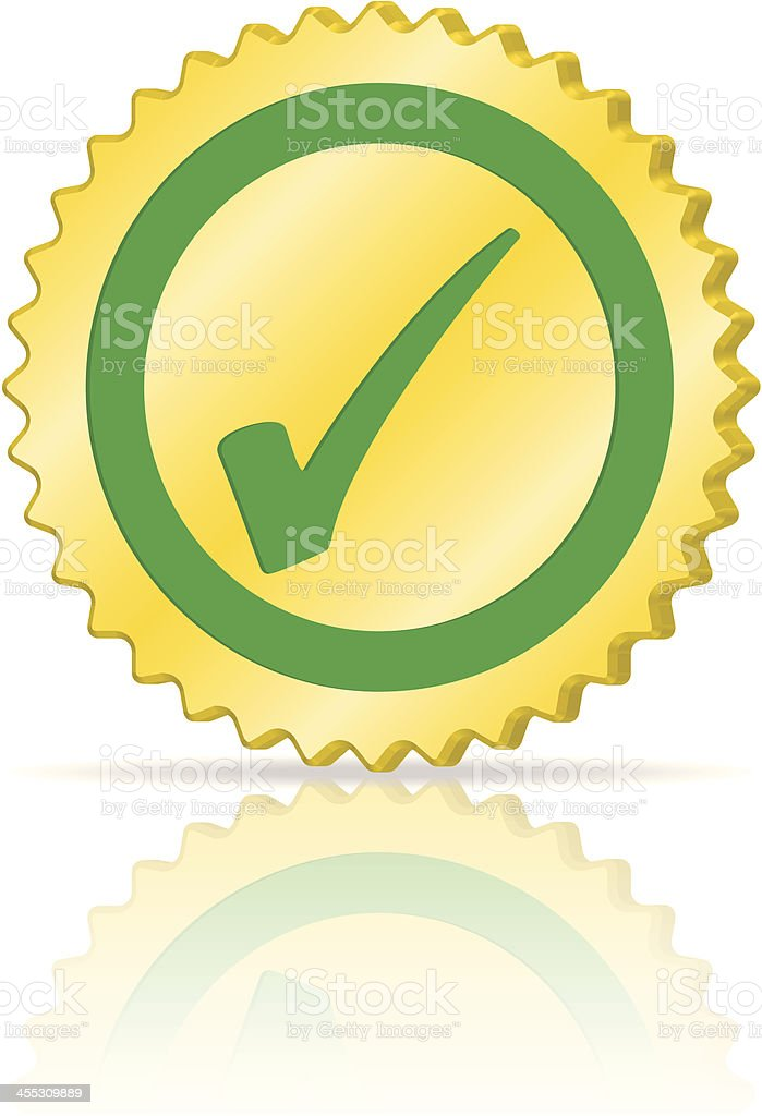 Seal of Quality Icon royalty-free stock vector art