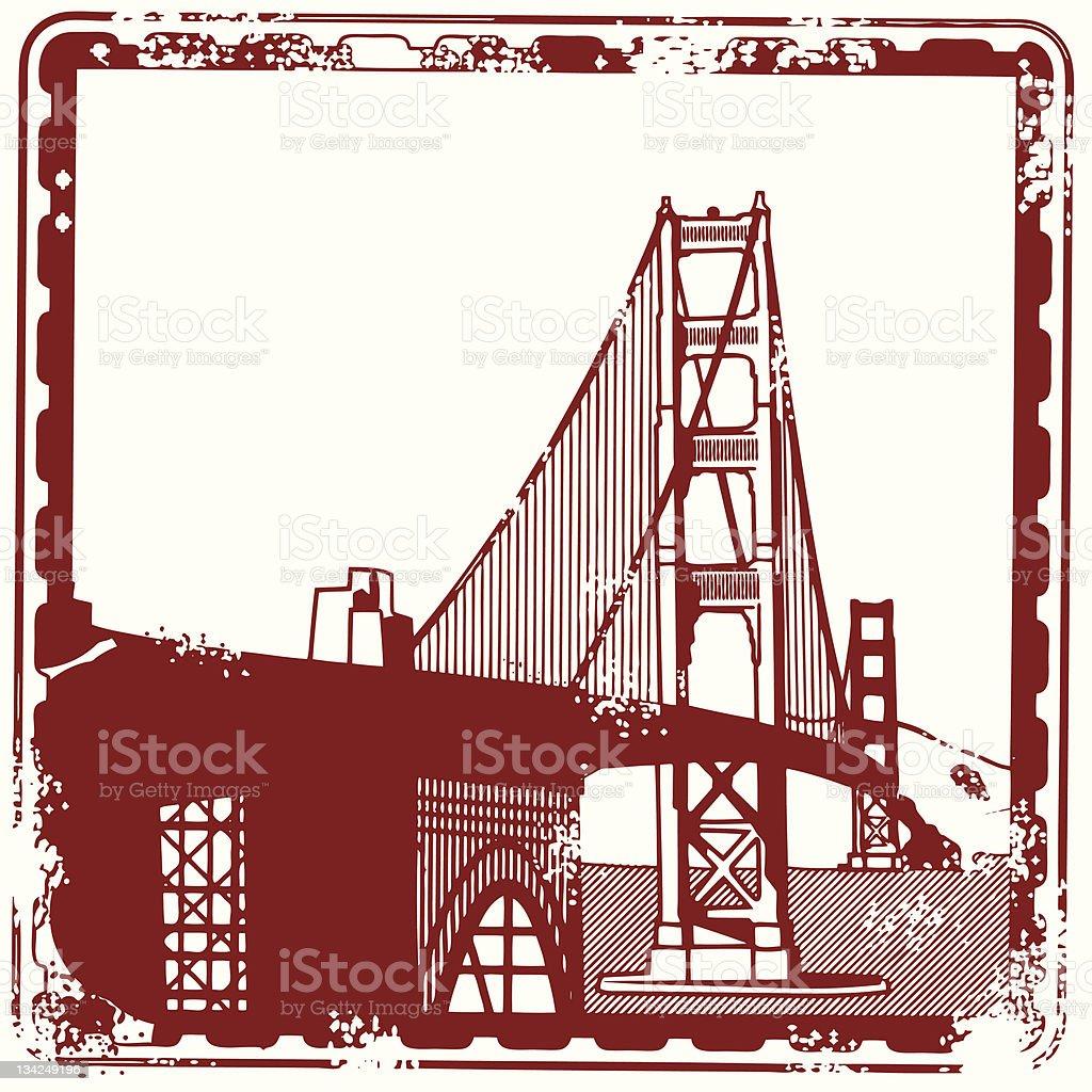Seal of the great Golden Gate Bridge royalty-free stock vector art