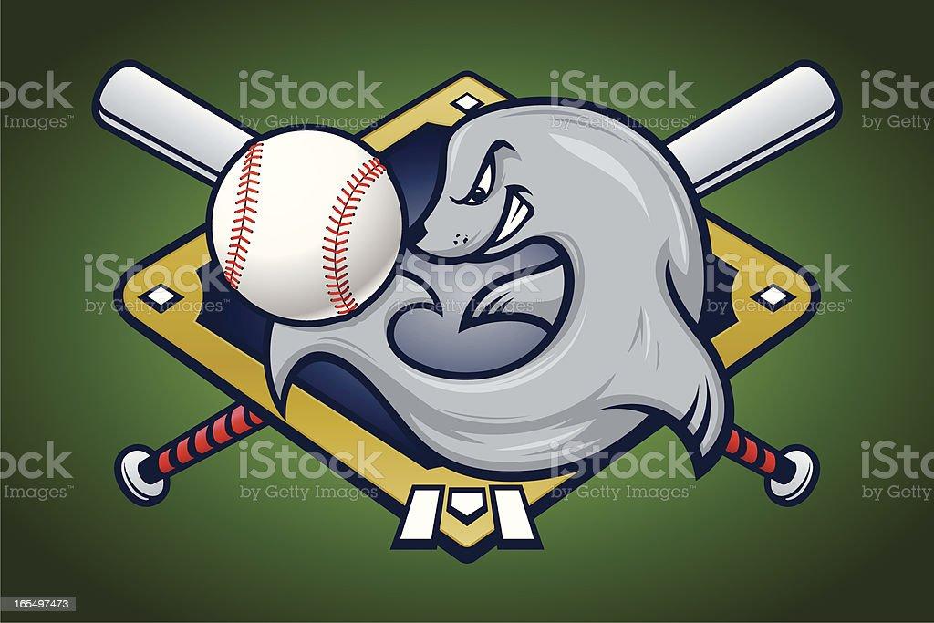 Seal With Baseball royalty-free stock vector art