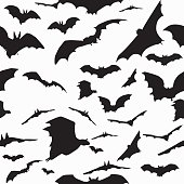 Sealess pattern with bats