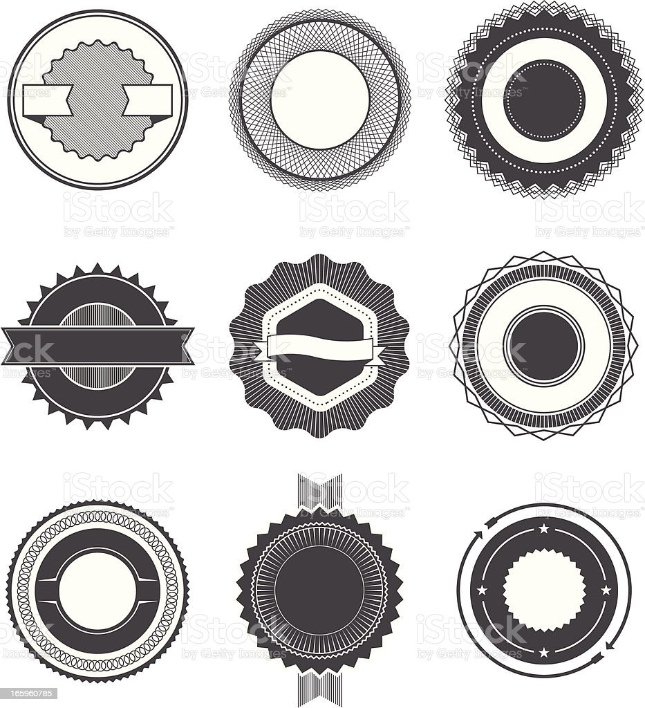 Seals and Badges 2 royalty-free stock vector art