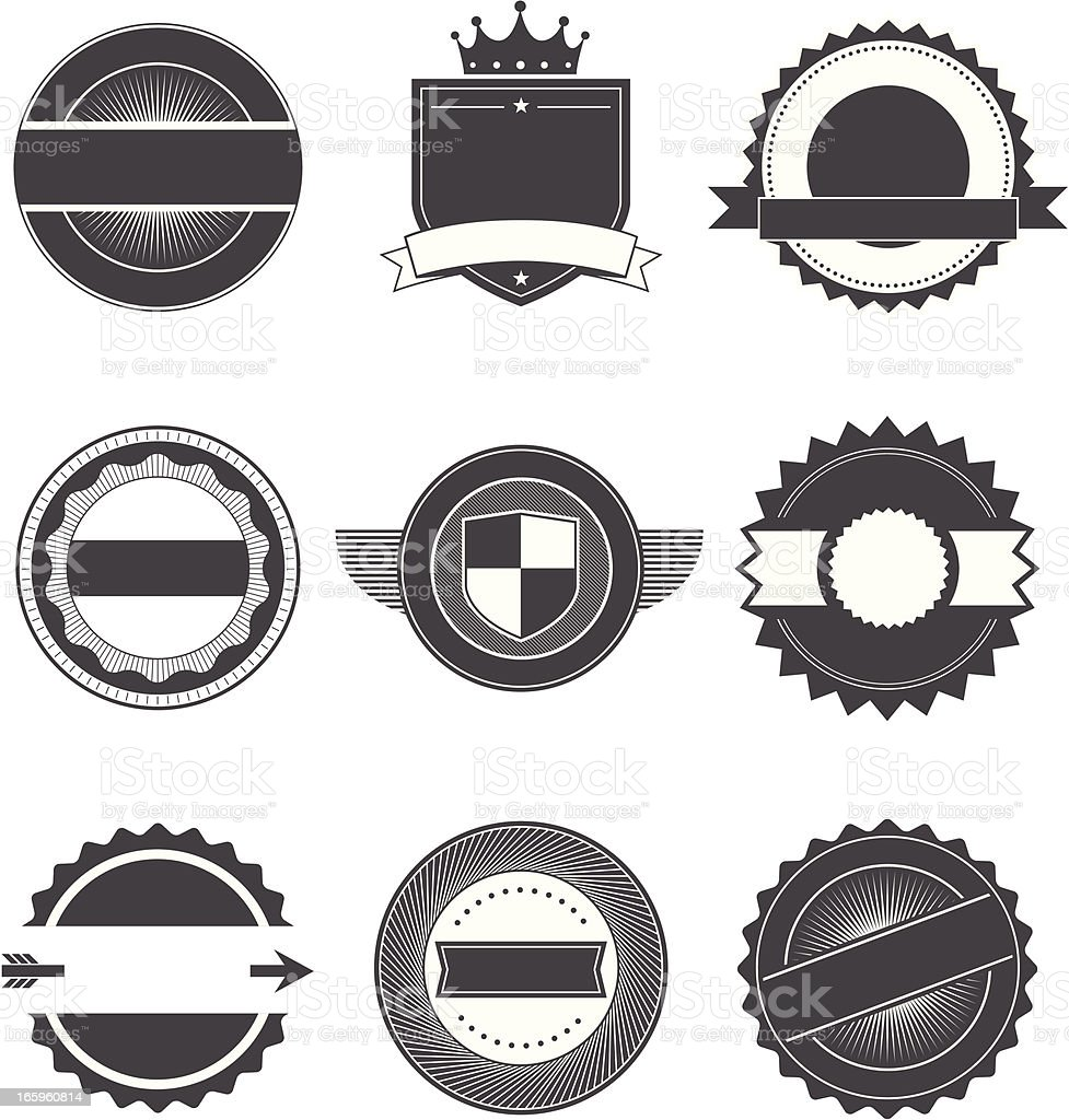 Seals and Badges 3 royalty-free stock vector art