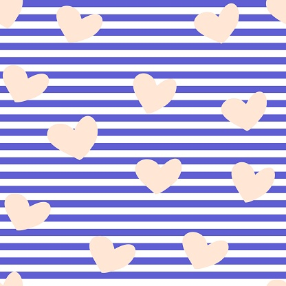 Seamles hearts pattern vector background