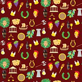 Seamles pattern with elements of ancient Greece
