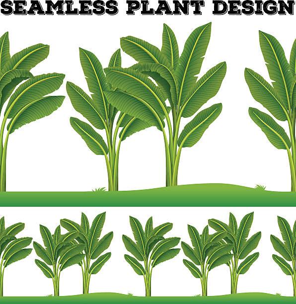 Nahtlose Pflanzen auf dem Boden – Vektorgrafik
