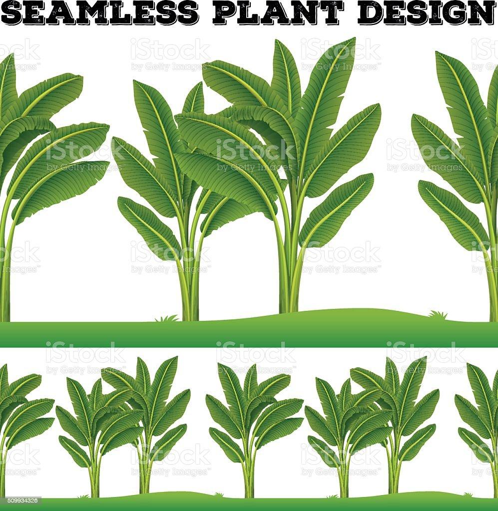 Seamles plants on the ground vector art illustration