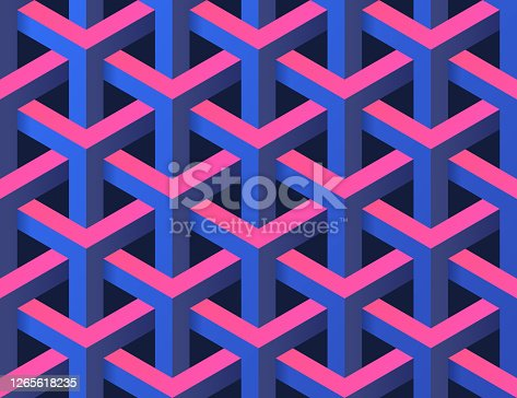Seamless 3D Abstract Background