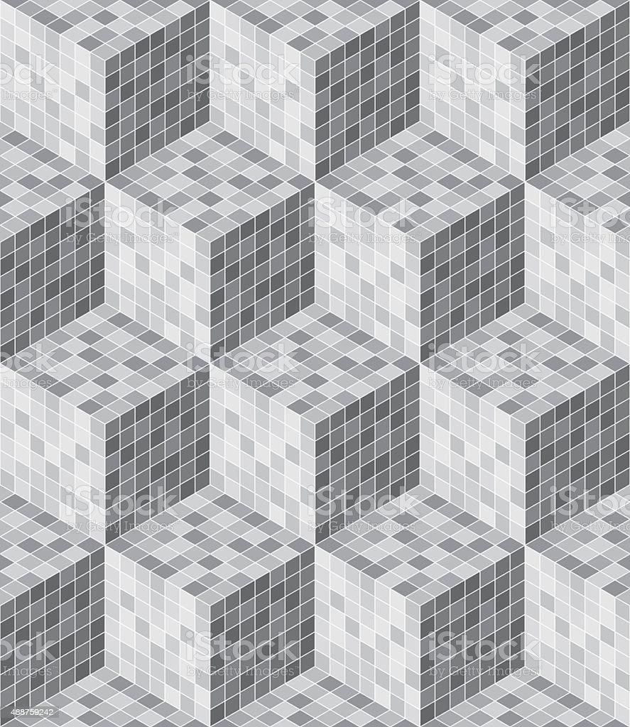 Seamless 3D cubes vector art illustration
