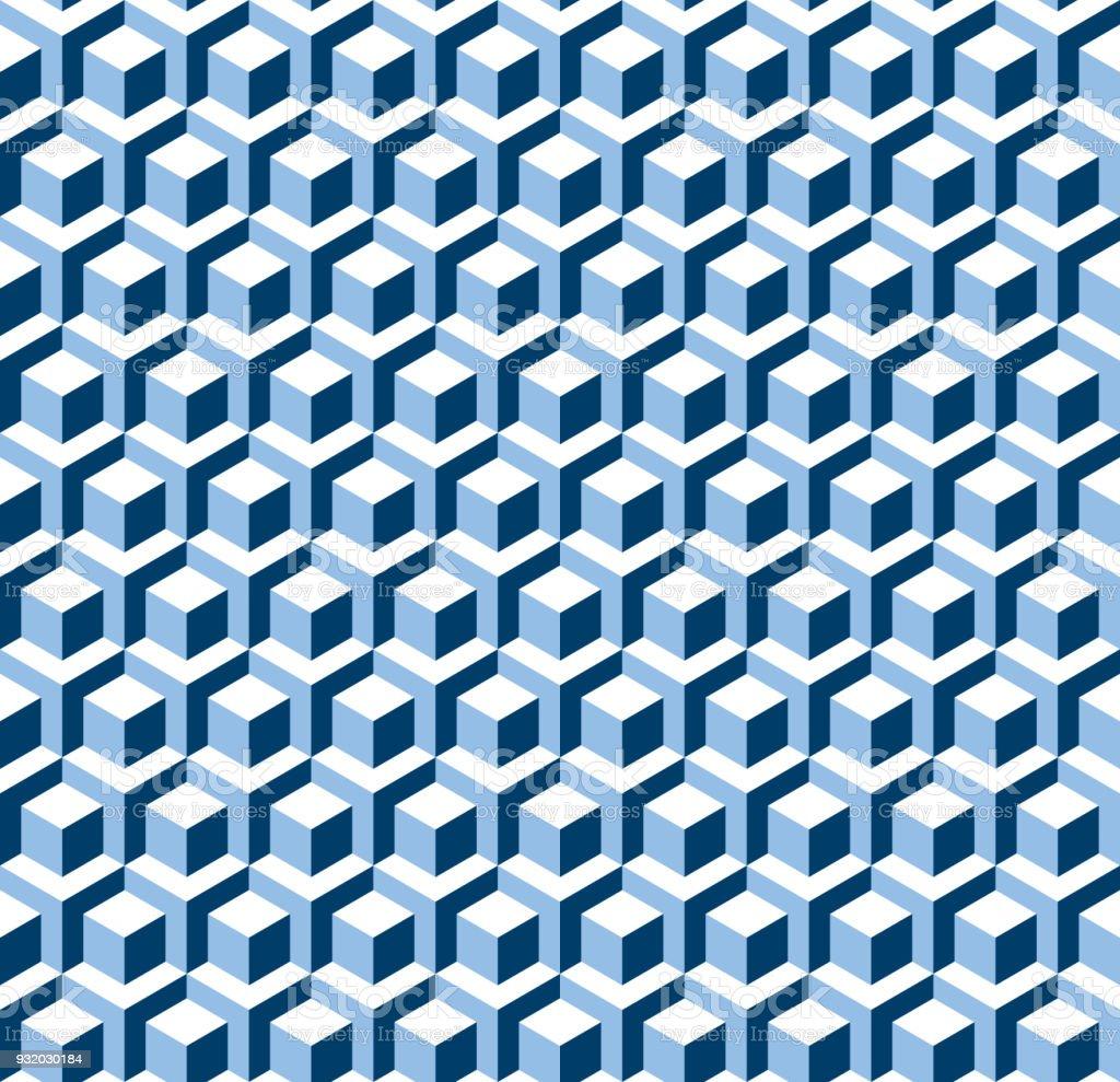 Nahtlose 3d Isometrischen Würfel Geometrische Abstrakte Render ...
