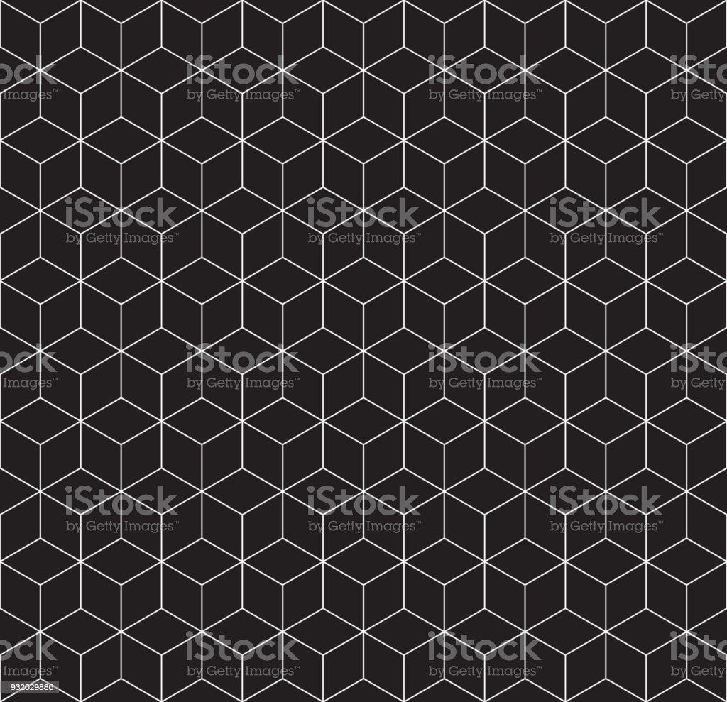 3d Drahtgitter Cube Musterdesign Stock Vektor Art und mehr Bilder ...