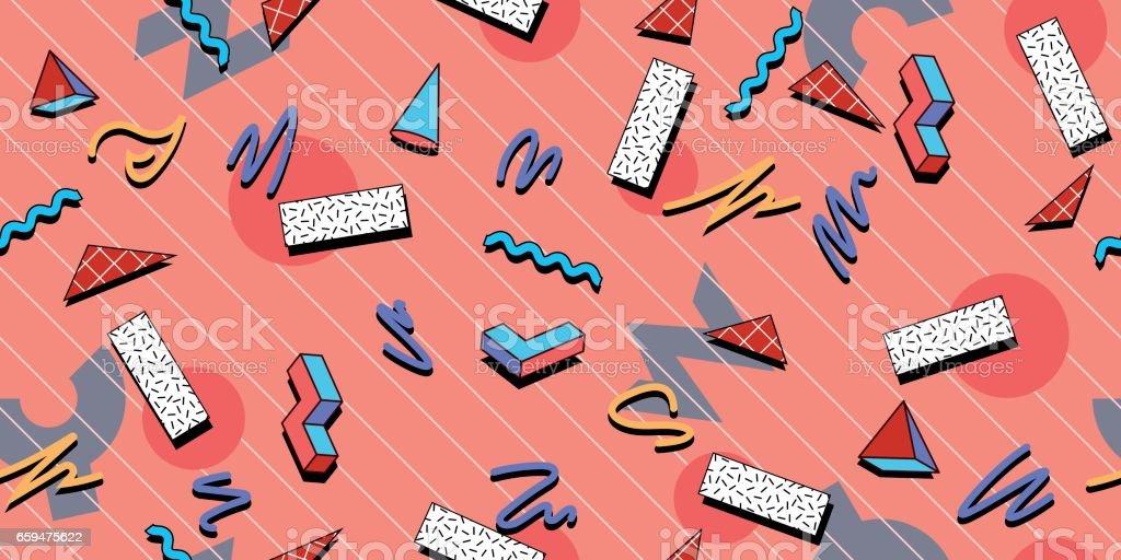 Azulejo del patrón perfecta 80s - ilustración de arte vectorial