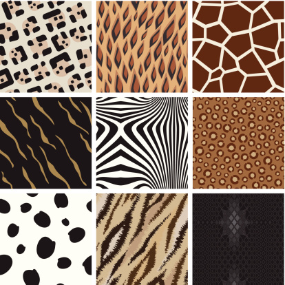 Seamless abstract animal background pattern