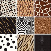 istock Seamless abstract animal background pattern 165495189