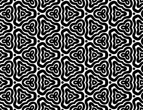 Seamless Abstract Background Trifolio Pattern