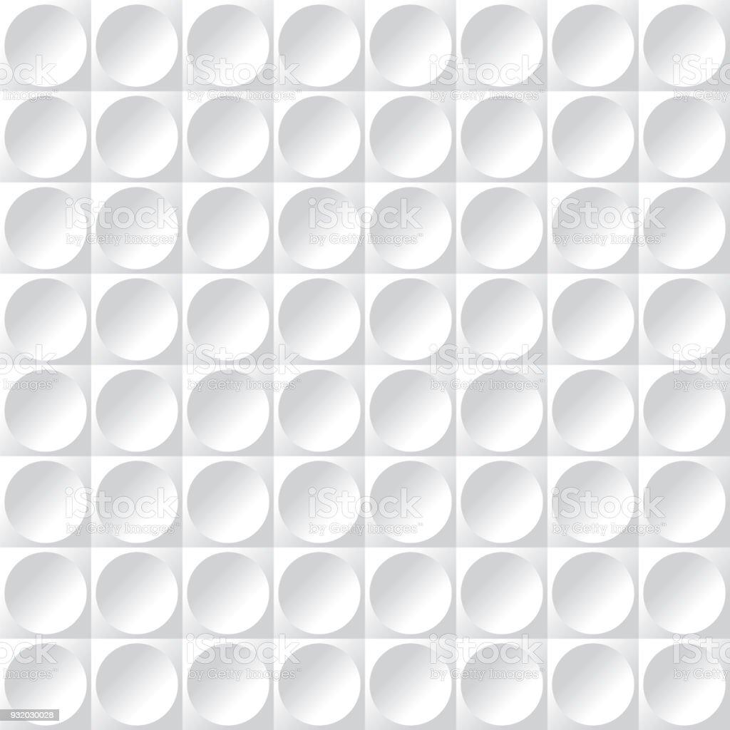 Padrão de superfície textura círculo abstrata sem emenda - ilustração de arte em vetor