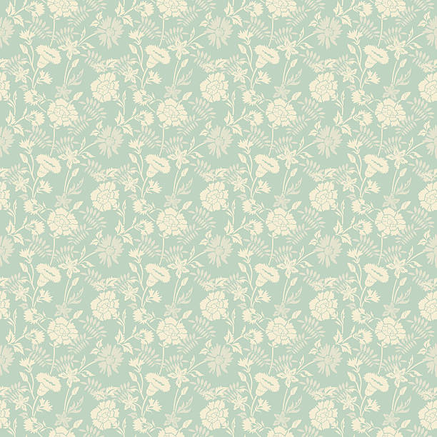 Seamless abstract floral pattern background Seamless vector abstract floral pattern for retro wallpaper background design tapestry stock illustrations