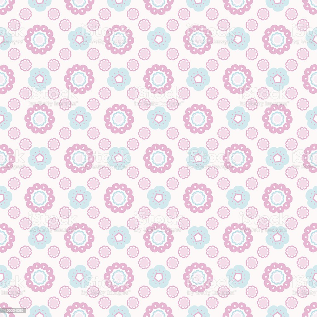 Seamless abstract floral pattern. royalty-free stock vector art