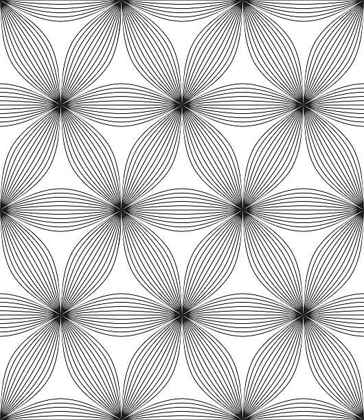 Seamless Abstract Flowers vector art illustration