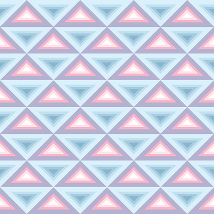 Seamless abstract geometric pattern, pastel triangles