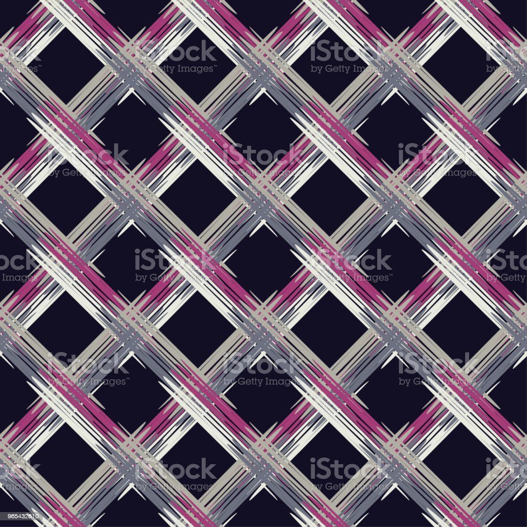 Seamless abstract geometric pattern. The texture of rhombus. Brushwork. Hand hatching. Scribble texture. Textile rapport. seamless abstract geometric pattern the texture of rhombus brushwork hand hatching scribble texture textile rapport - stockowe grafiki wektorowe i więcej obrazów abstrakcja royalty-free