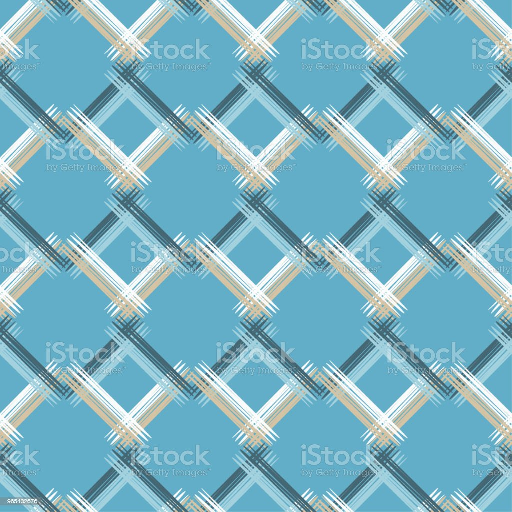 Seamless abstract geometric pattern. The texture of rhombus. Brushwork. Hand hatching. Scribble texture. Textile rapport. royalty-free seamless abstract geometric pattern the texture of rhombus brushwork hand hatching scribble texture textile rapport stock illustration - download image now