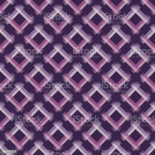 Vetores de Sem Costura Padrão Geométrico Abstrato A Textura De Losango Pinceladas Incubação De Mão Rabisco De Textura Rapport De Têxteis e mais imagens de Abstrato