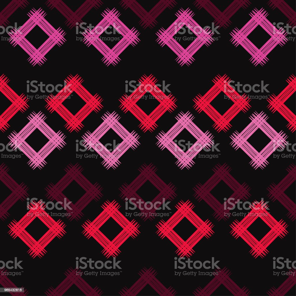 Seamless abstract geometric pattern. The texture of rhombus. Brushwork. Hand hatching. Scribble texture. Textile rapport. seamless abstract geometric pattern the texture of rhombus brushwork hand hatching scribble texture textile rapport - stockowe grafiki wektorowe i więcej obrazów abstrakcja royalty-free