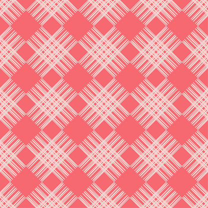 Seamless Abstract Geometric Pattern The Texture Of The Strips Brushwork Hand Hatching Scribble Texture Textile Rapport Stock Illustration - Download Image Now