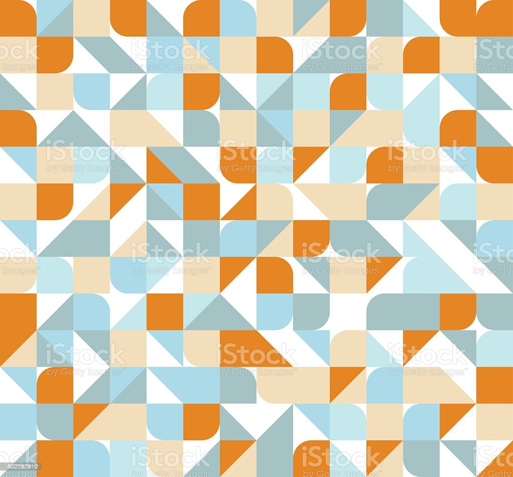 Seamless abstract geometric pattern vector art illustration