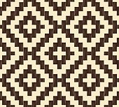 seamless abstract pixelated geometric pattern