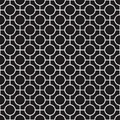 Vector Seamless Abstract Geometric Texture Pattern in Black and White
