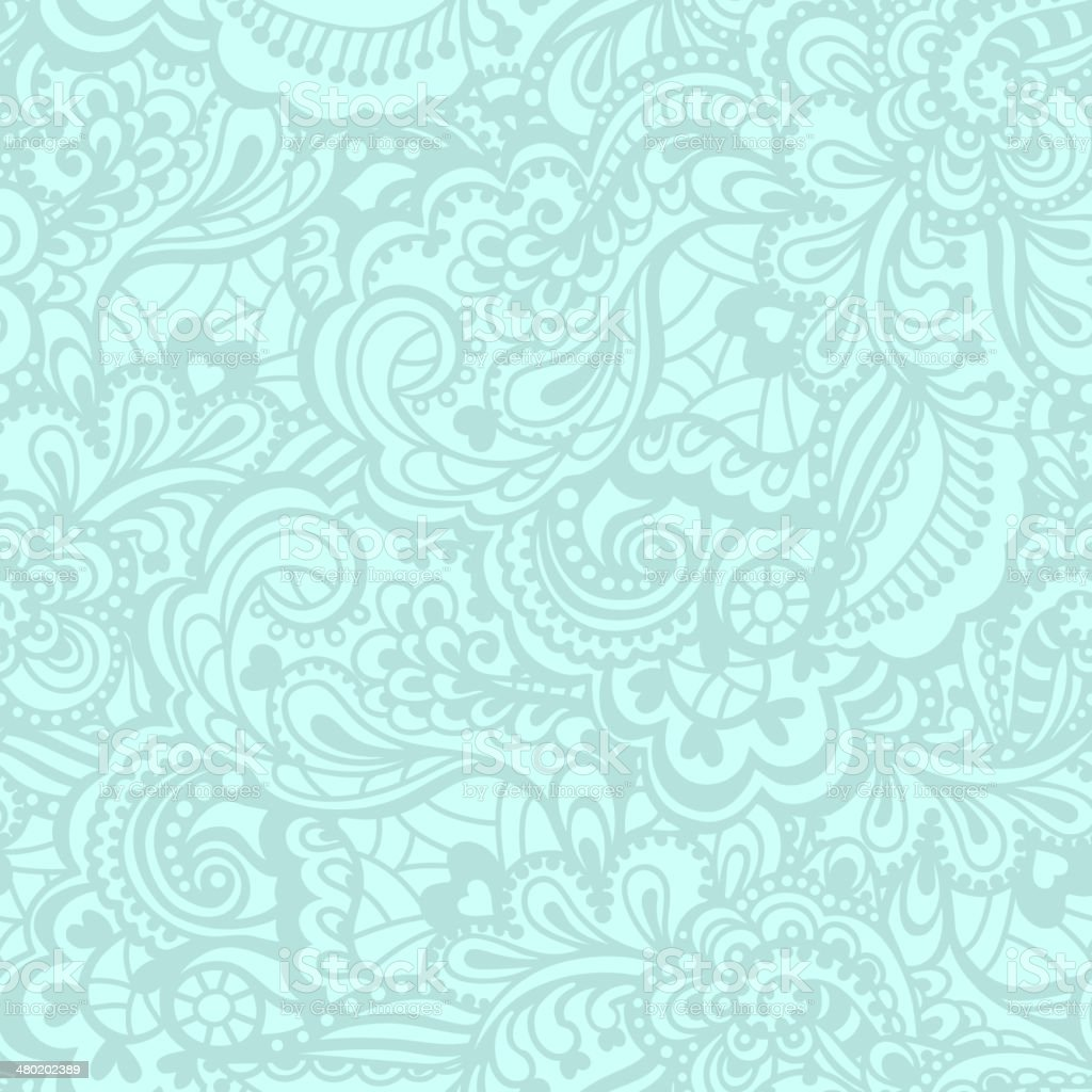 Seamless abstract hand-drawn pattern vector art illustration