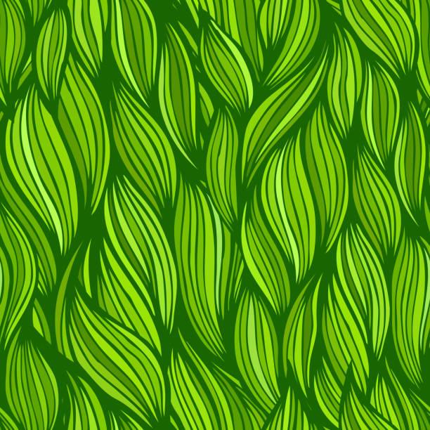 nahtlose abstrakt handgezeichnete ppattern - pflanzenhaar stock-grafiken, -clipart, -cartoons und -symbole